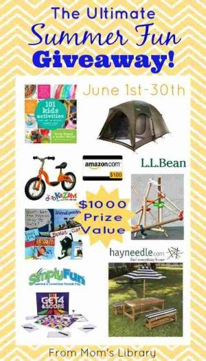 Fun Summer Giveaways - ultimate summer fun giveaways igamemom
