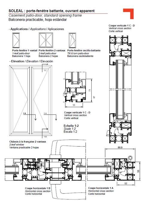 door section fy patio door standard opening frame