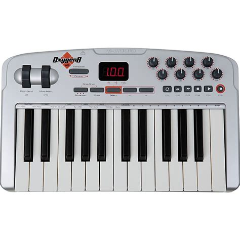 M Audio Mid Air25 25key Usb Midi Wiireless Controller m audio oxygen 8 v2 25 key midi usb keyboard controller musician s friend