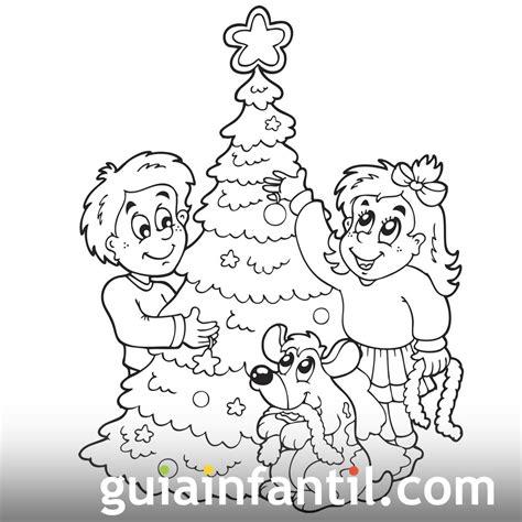 pin arboles navidad para colorear fichas ingles ninos pic