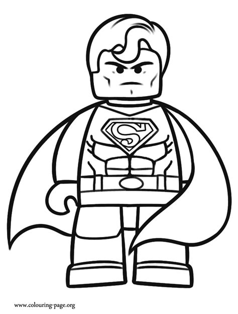 Legos Coloring Pages the lego superman coloring page
