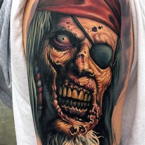 pirate themed tattoos pirate themed detailed and colored