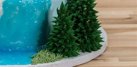 how to make icing trees how to make a three tier frozen birthday cake cakes