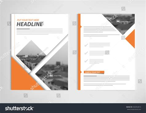 layout of book report annual report template design book cover stock vector