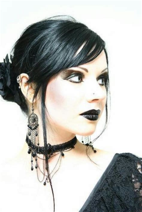 elegant goth hairstyles goth beauty dark beauty pinterest