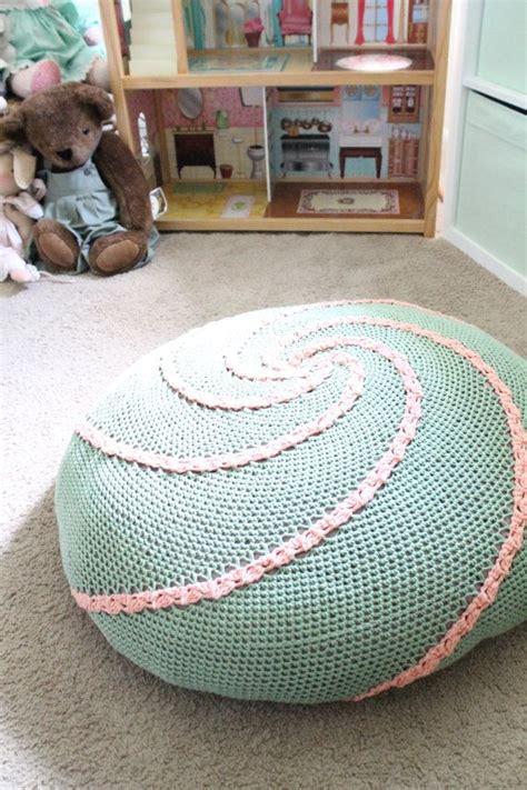 crochet pattern for bean bag chair spiral floor pouf pdf crochet pattern ottoman bean bag