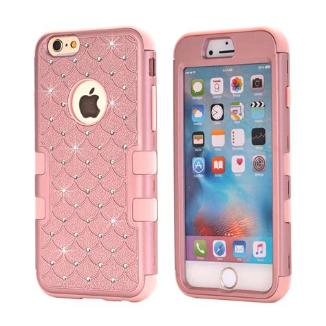 Iphone 6 6s Plus Armor Casing Sarung Big Velvet Imut aliexpress buy bling back protective for iphone 6 6s plus 5 5s se gold