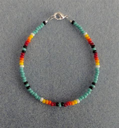 turquoise beaded bracelet american made all size ebay