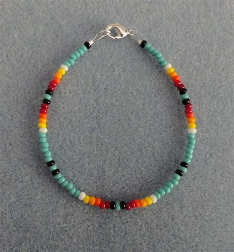 Turquoise Beaded Bracelet Native American Made All Size   eBay