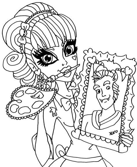 monster high dracubecca coloring pages dibujos para pintar de draculaura