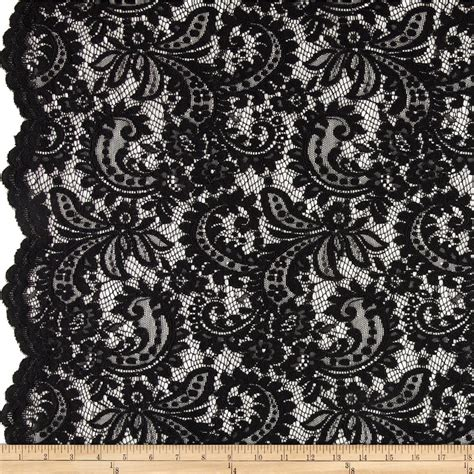 Home Decor Fabric By The Yard by Telio Amelia Lace Black Discount Designer Fabric