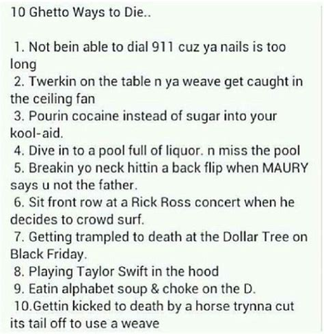 7 Ways To Its Just A Fling by 10 Ways To Die It S Just A Joke
