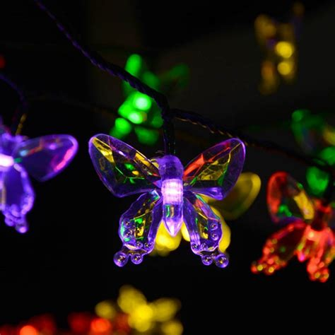 Butterfly Solar Lights Outdoor Solar Ls 4 8m 20leds Colorful Butterfly Garland Luces Waterproof Outdoor