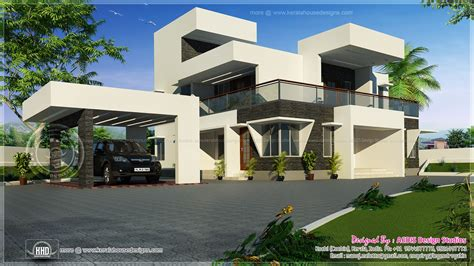 4 bhk contemporary style home 195 square meter kerala home design and floor plans modern contemporary style home exterior home kerala plans