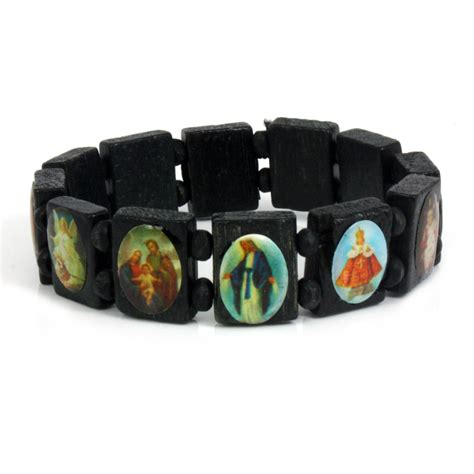 new saints catholic christian jesus wooden wood bracelets