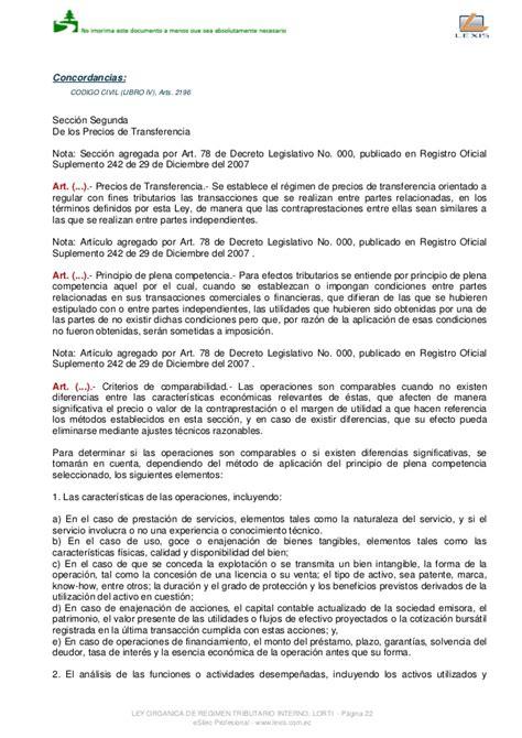ley organica de regimen tributario interno de ecuador 2015 ley de regimen tributario interno 1