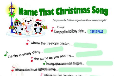 printable christmas song picture games name that christmas song game