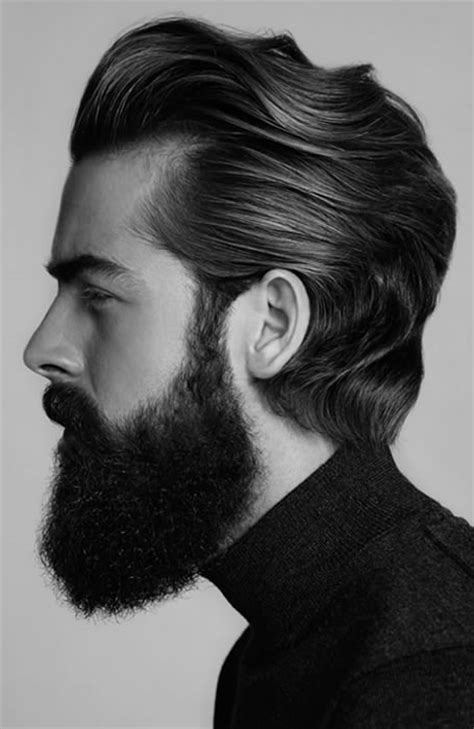 pompadore and beard 32 of the best pompadour hairstyles fashionbeans