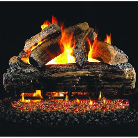 peterson real fyre 24 inch split oak gas log set with