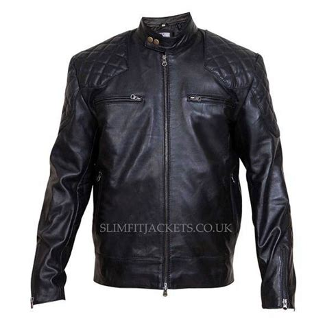 leather cycle jacket david beckham motorcycle quilted leather jacket