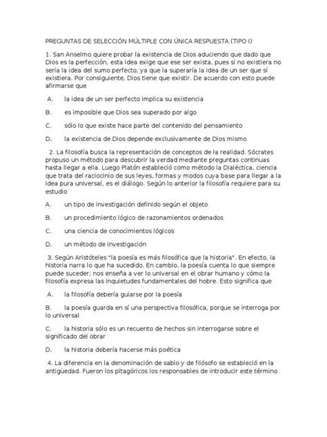 preguntas con seleccion multiple preguntas de selecci 211 n m 218 ltiple con 218 nica respuesta