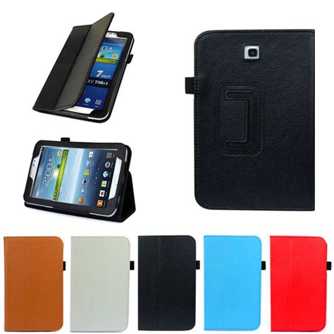 Samsung Tab 3 P3200 folio leather cover stand for samsung galaxy tab 3 7 quot tablet p3200 p3 ebay