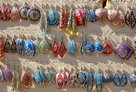 How To Decorate Your Home For Cheap colourful handmade asian style earrings on a market stall