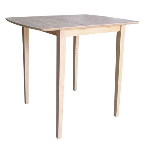 Unfinished Bistro Table International Concepts Unfinished Pub Bar Table K T36x 42s The Home Depot