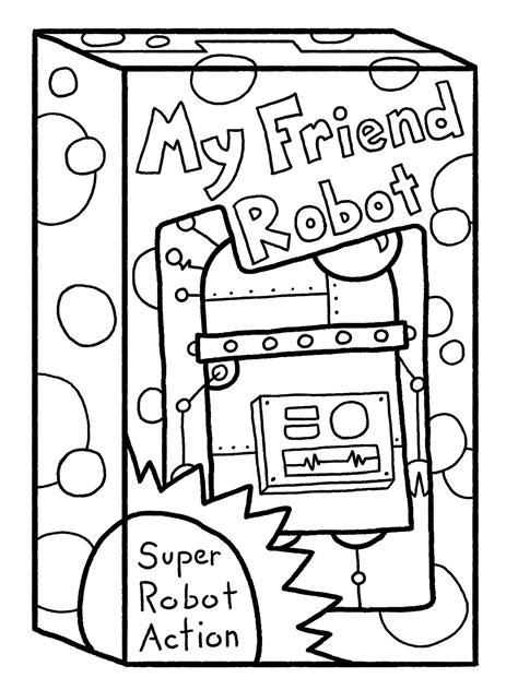 simple robot coloring page free simple robot coloring pages