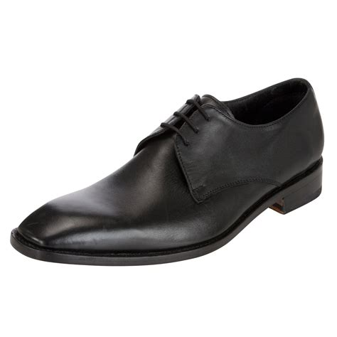 lewis shoes lewis malvern calf leather derby shoes in black for