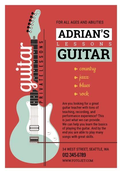Guitar Musical Flyer Design Yourweek E2f291eca25e Guitar Lesson Flyer Template