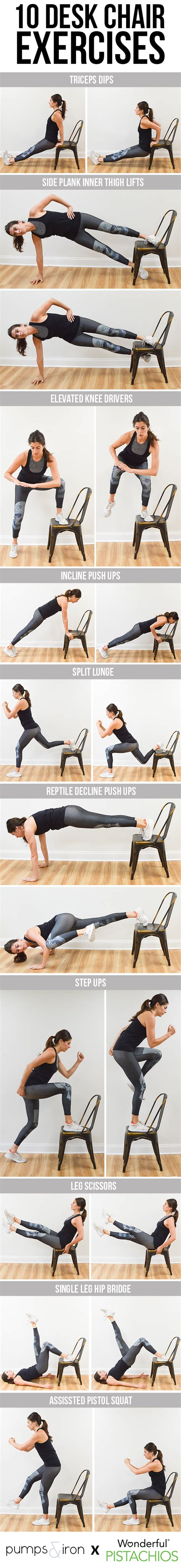 exercise desk chair 10 exercises you can do with a desk chair pumps iron