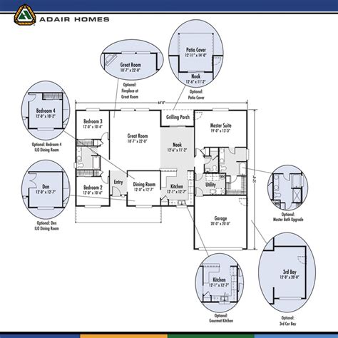 adair floor plans adair homes the willamette 2130 home plan