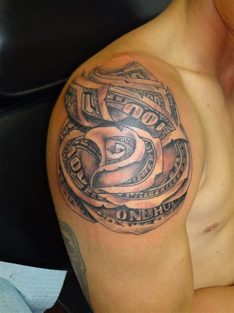 dollar rose tattoo money tattoos designs ideas and meaning tattoos for you