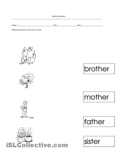 kindergarten activities my family 15 best images of my family worksheets for kindergarten