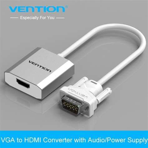 Nyk Hdmi To Vga Adapter With Audio Cable Con Hdamvgfa Diskon vention 0 15m 0 5m 1m vga to hdmi converter cable adapter with audio 1080p vga hdmi adapter for