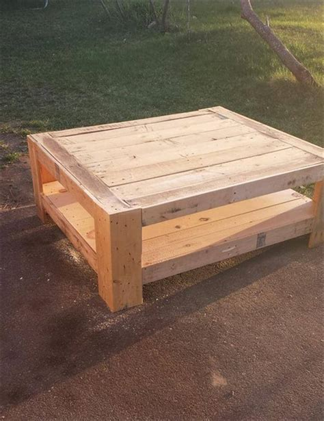 Upcycled Coffee Table Ideas Upcycled Wood Pallet Coffee Table 101 Pallet Ideas