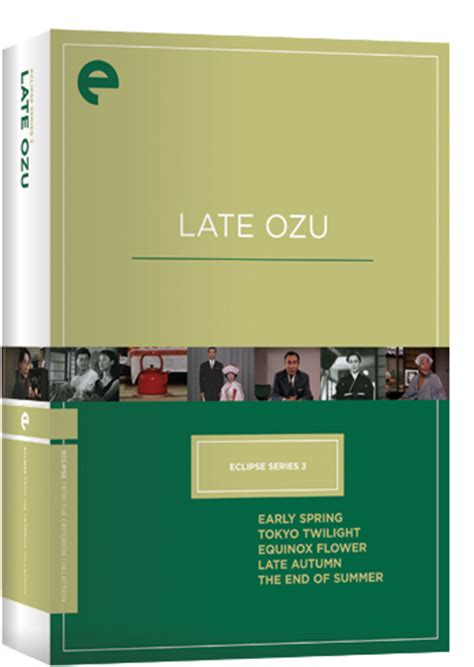 eclipse series 3 eclipse series 3 late ozu the criterion collection