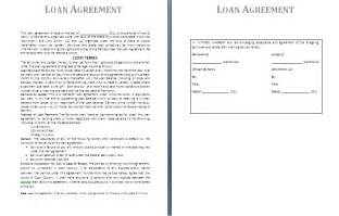 financial loan agreement template loan agreement template free agreement templates
