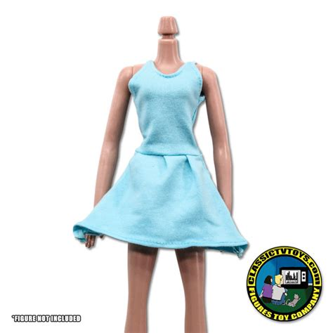 8 inch figure clothes sky blue dress for 8 inch figures