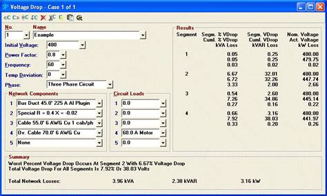 calculate capacitor voltage drop برنامج مهم لكل مهندسي الكهرباء electrical tools