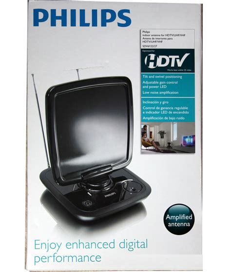 philips sdv6122 27 lified powered indoor digital uhf vhf hdtv tv antenna ebay