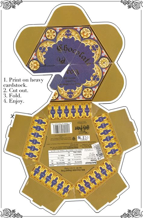 Harry Potter Chocolate Frog Card Template by Printable Chocolate Frog Box Diy Paper Crafts