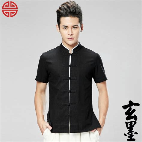 dress shirt picture more detailed picture about asian style dresses handsome frog button cotton chinese tang shirt black