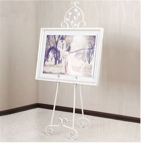 Wedding Album Easel by European Fashion Wrought Iron Painting Frame Floor Display