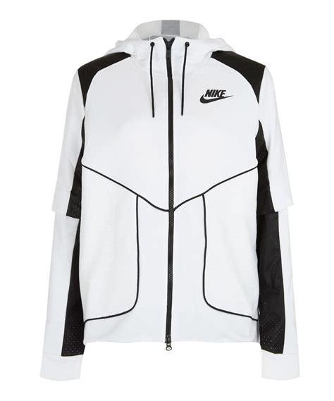 Jaket Hoodie Nike 7 nike white perforated zip hoodie jacket in white lyst