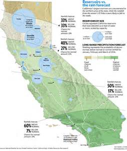 california reservoirs map will el ni 241 o solve drought not if the falls in