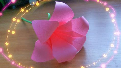Show Me How To Make Paper Flowers - diy easy crafts how to make 6 petals origami