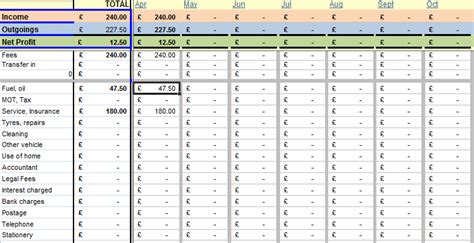 Bookkeeping For Self Employed Spreadsheet by Driving Instructor Accounting Bookkeeping System For Excel