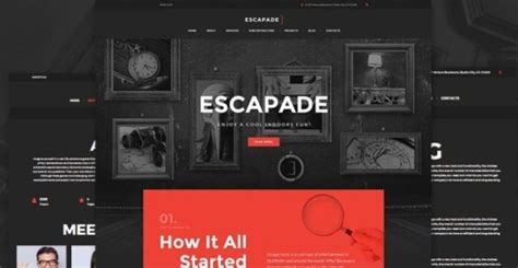 15 Bestselling Html5 Templates With Parallax Scrolling Effect Escape Room Website Template